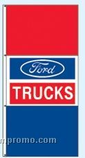 Stock Double Face Dealer Rotator Drape Flags - Ford Trucks