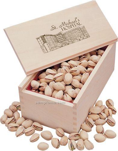 Wooden Collector's Box W/ Jumbo California Pistachios