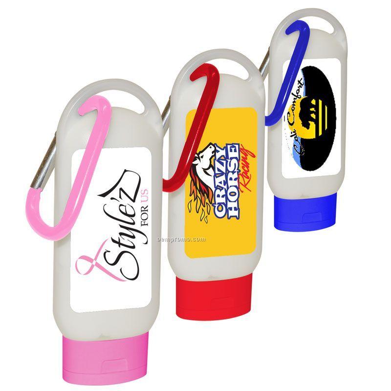 2.2 Oz. Spf 15 Sunblock In Hi-style Bottle W/ Carabiner