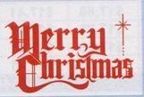 30' Fringe Holiday Pennant W/ Red Pre-printed Message (Merry Christmas)