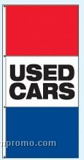 Double Face Stock Message Rotator Drape Flags - Used Cars