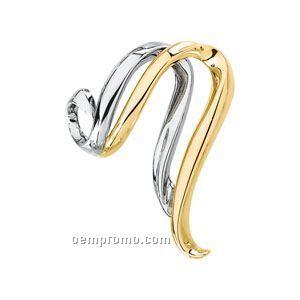 Ladies' 14ktt 29mmx28-1/2mm Metal Fashion Chain Slide Pendant