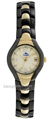 Pedre Premier B Ladies' Gold Textured Dial Watch