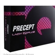 White Precept Lady Iq Plus Golf Ball W/ Soft Feel/ Increased Climb- 12 Pack