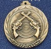 "1.5"" Stock Cast Medallion (Revolvers Crossed)"