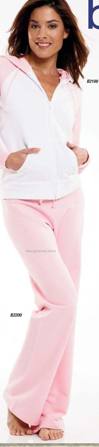Bella Ladies Fleece Straight Leg Sweatpants - White (2xl)