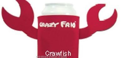 Crazy Frio Beverage Holder - Crawfish W/ 2 Appendages