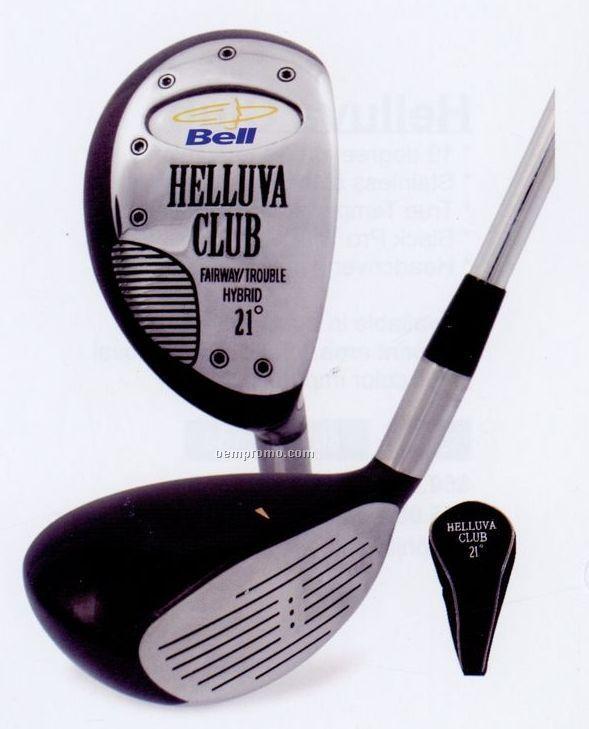 Hybrid Helluva Golf Club W/ Head Cover (17, 21, 25 Degree Loft)