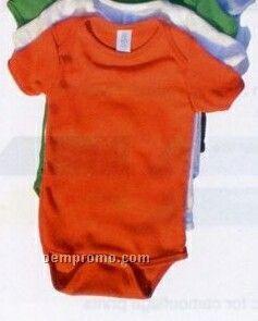 Infant Baby Rib Short Sleeve Plain Onesie Creeper (3m-24m)