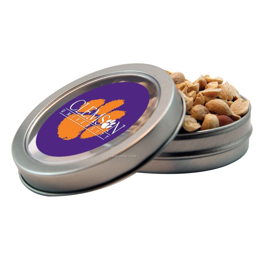 Short Round Tin With Peanuts