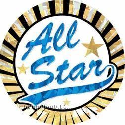 """Sunburst Hologram Mylar Insert - 2"""" All Star"""