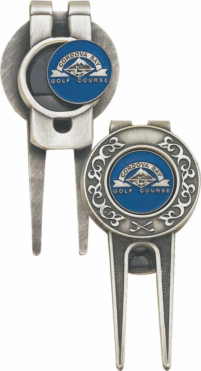 2 Sided Divot Tool W/ Money Clip