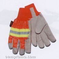 Hi Visibility Safety Glove With Thermal Lining (Large) Blank