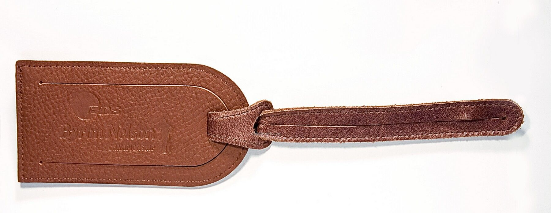 Leather Luggage Tag With Concealed Id Window