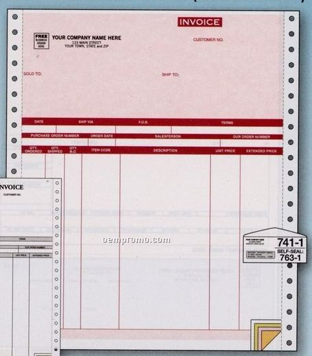 Parchment Invoice - Accpac Compatible (2 Part)
