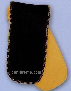 Premium Polar Fleece Double Layer Scarf W/ Blanket Stitched Edging