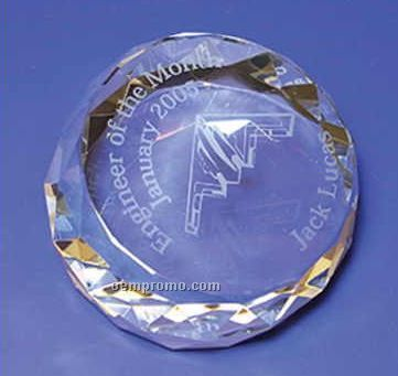 Round Crystal Paperweight (Screened)