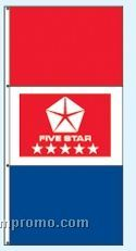 Stock Double Face Dealer Rotator Drape Flags - Five Star Red