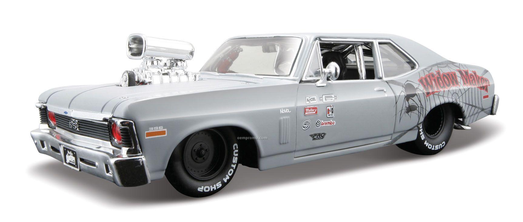 """7""""X2-1/2""""X3"""" 1970 Chevrolet Nova Ss All Star Series Die Cast Replica"""