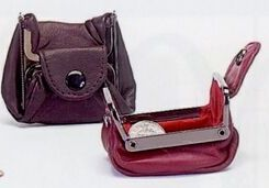 Metal Frame Coin Pouch With Snap Closure