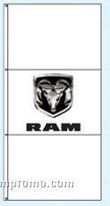 Stock Double Face Dealer Rotator Drape Flags - Ram