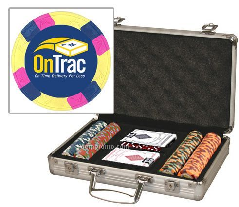 Custom Labeled 10 Gram Poker Chip Set With Case & Cards