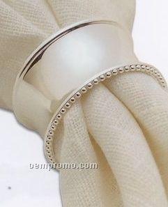 Silverplated Round Beaded Edge Napkin Ring