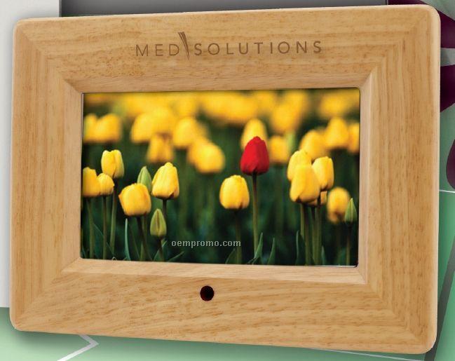 "7"" Multi Media Digital Picture Frame - Honey Oak (9""X6 1/2"")"