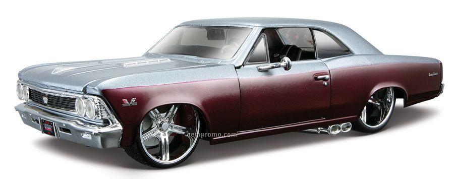 "7""X2-1/2""X3"" 1966 Chevrolet Chevelle Ss All Star Series Die Cast Replica"