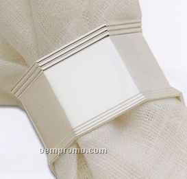 Silverplated Hexagonal Napkin Ring