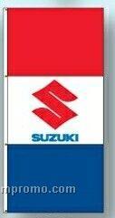 Stock Double Face Dealer Rotator Drape Flags - Suzuki