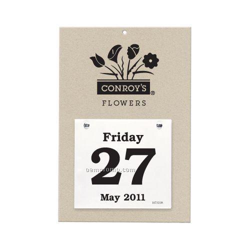 "Sullivan Foil Stamped Daily Dates Calendar/ 100 Minimum (4 1/4""X4 3/4"" Pad)"
