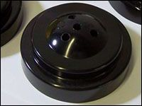 4 Hole Black Plastic Flag Base