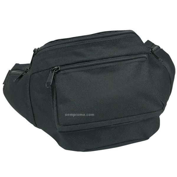 """600d Polyester Fanny Pack (10""""X6""""X3"""") (Blank)"""