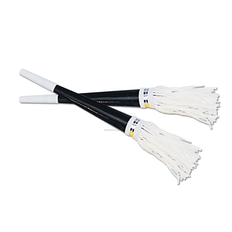 Black Party Horns W/ White Tassel