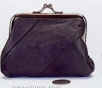 """Coin Purse With Metal Frame (3"""" Opening)"""
