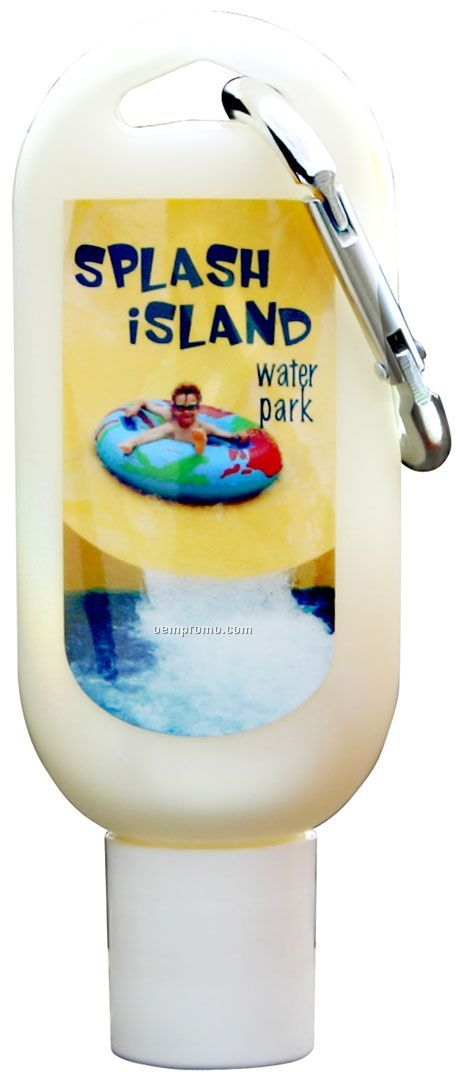 Spf15 Tropical Sunscreen In A Bottle W/Carabiners (1.5 Oz)