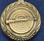 "1.5"" Stock Cast Medallion (Rifle Scope & Target)"