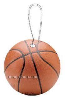 Basketball Zipper Pull