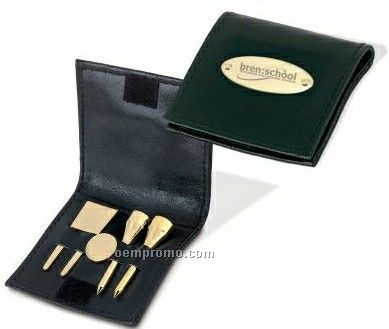 Executive's Golf Set With Tees/Ball Marker/Divot Fixer & Plate