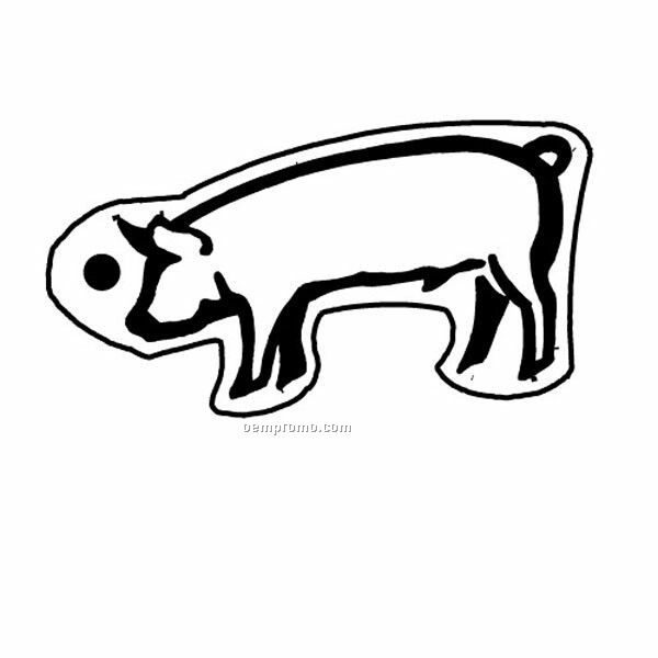 Stock Shape Collection Pig 2 Outline Key Tag