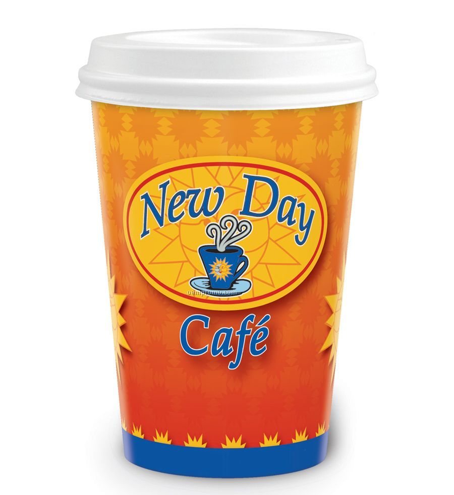 22 Oz. Heavy Duty Paper Hot Cup - Full Color