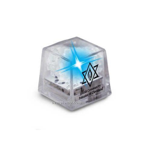 Clear Liquid Activated Mini Ice Cube W/ Blue LED