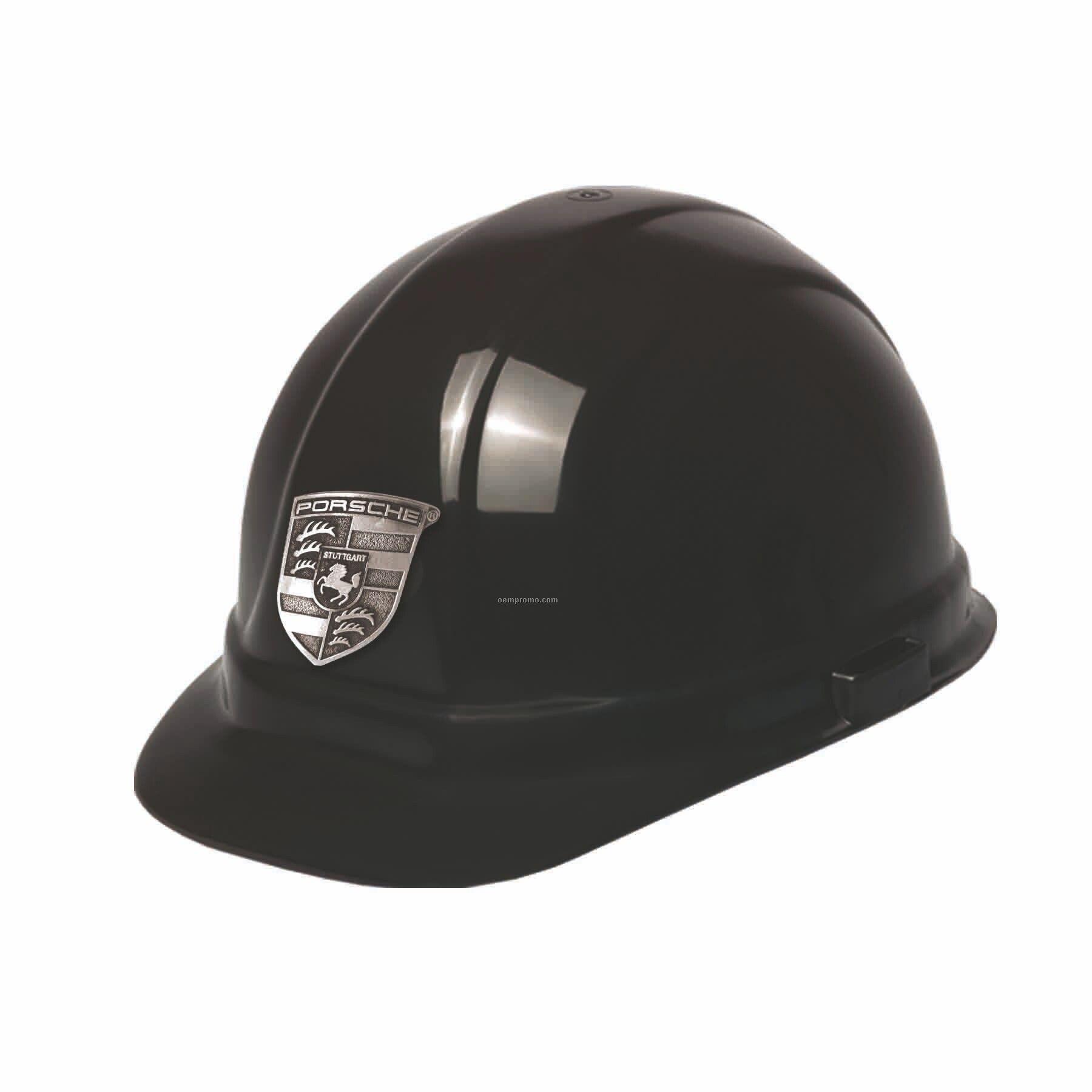 Hard Hat W/ Decoration Pewter Emblem/Decal