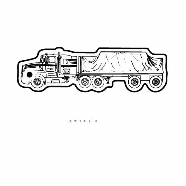 Stock Shape Collection Flatbed Truck Key Tag