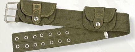 Women's Vintage Cotton Belt With Pouches