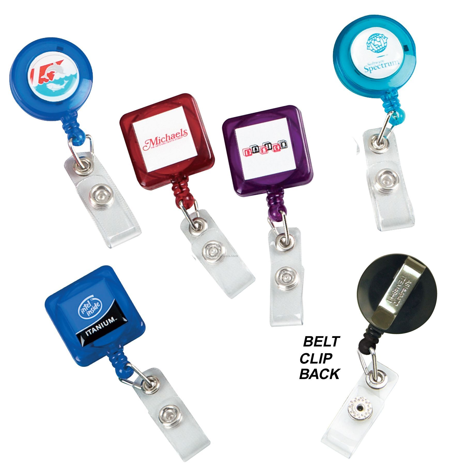 """""""Better"""" Retractable Badge Reel: (Label Only)"""
