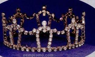 """1 3/4"""" Austrian Crystal Rhinestone Crown"""