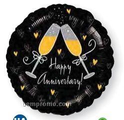 """18"""" Happy Anniversary Toast Balloon"""