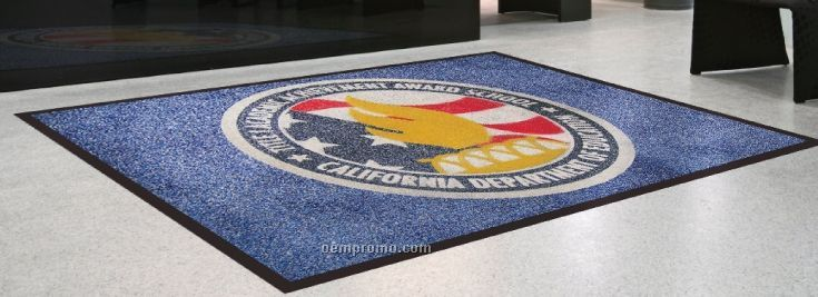 Flocked Olefin Indoor Logo Mats - 3 Color (3'x5')
